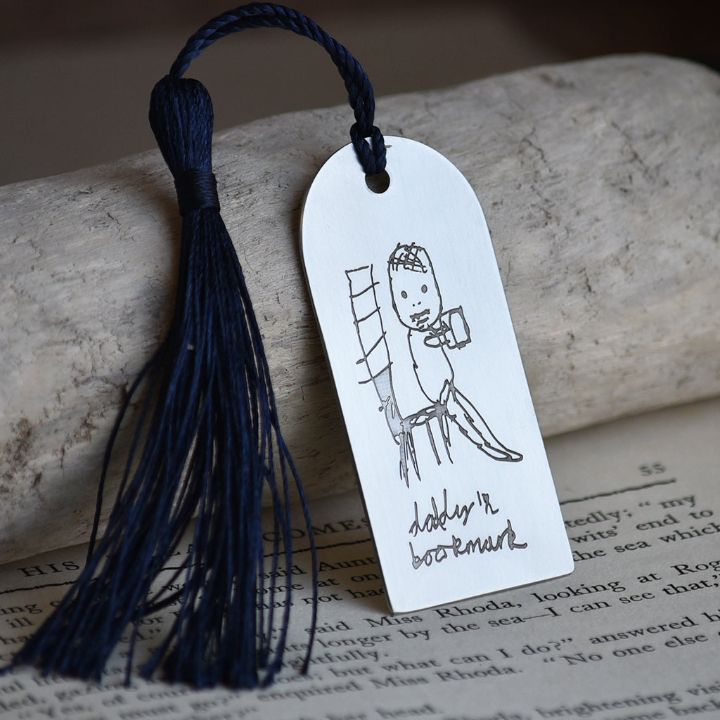 PERSONALISED YOUR CHILD'S DRAWING STEEL BOOKMARK