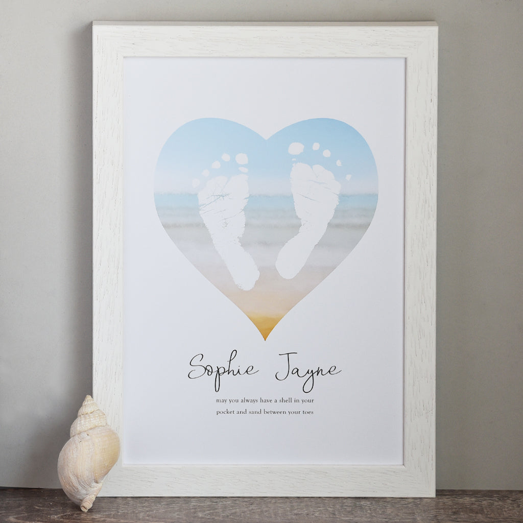 PERSONALISED 'SAND BETWEEN YOUR TOES' PRINT