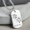 Paw print necklace personalised