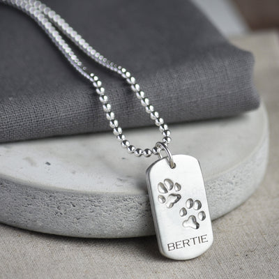 Your pets paw print dog tag