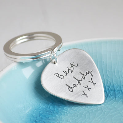 Personalised keyring personalised with your own handwritting