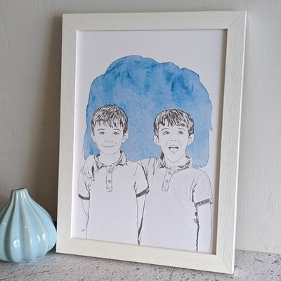 personalised hand drawn illustration