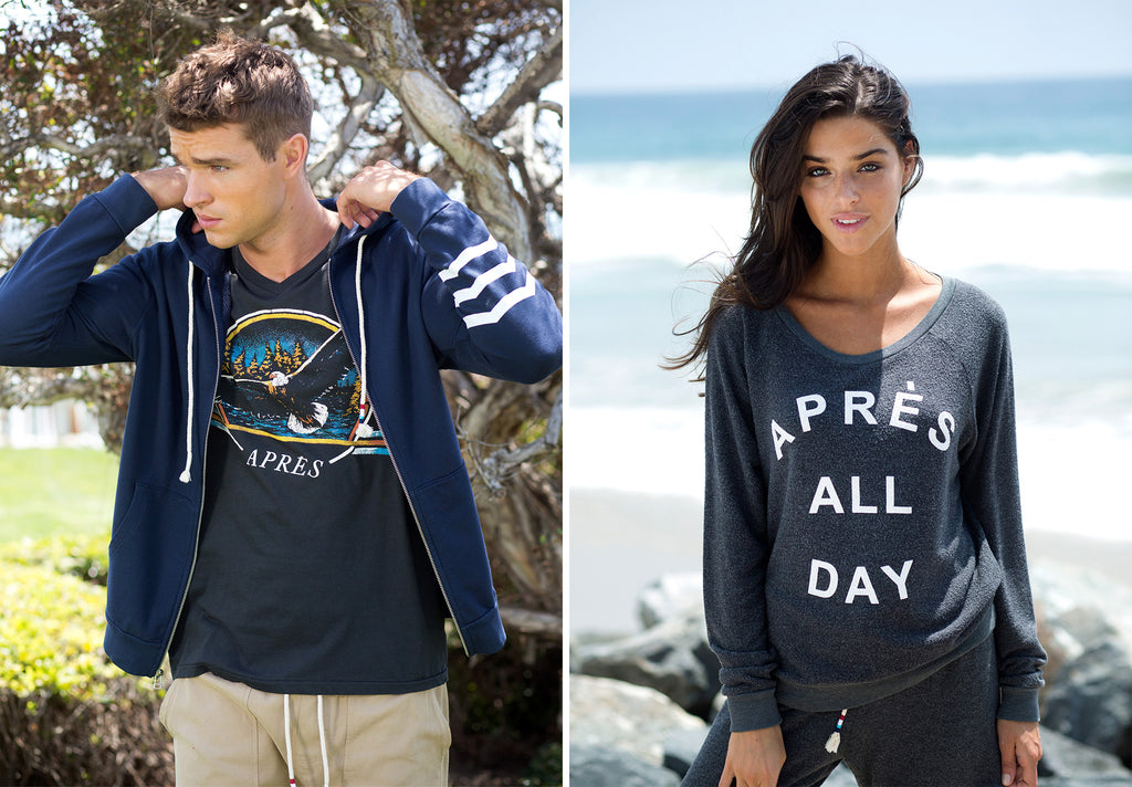 APRES ALL DAY HACCI PULLOVER CREW WAVES ESSENTIALS HOODIE