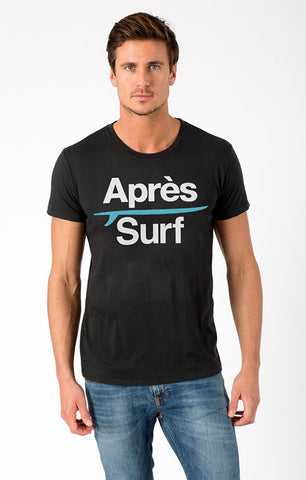 APRES SURF WITH POOL BOARD MENS CREW TEE