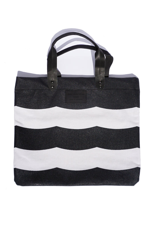 MIDNIGHT WAVES CANVAS TOTE