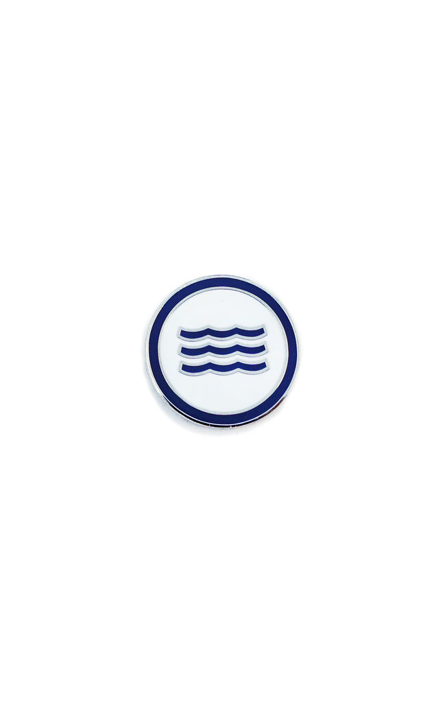 WAVES PIN - INDIGO
