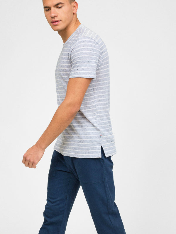 PEPPERED STRIPE CREW