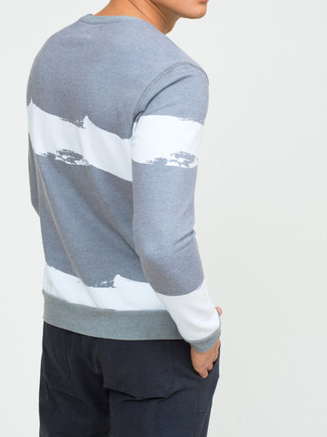 BORDER WAVE PULLOVER