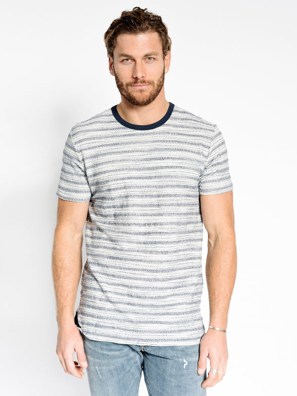LOOP STRIPE RINGER CREW