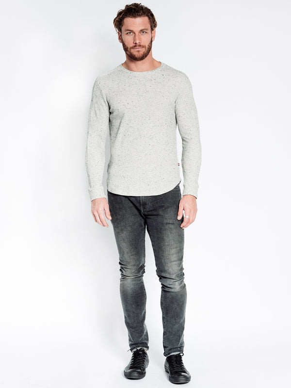 SPECKLED THERMAL LONG SLEEVE CREW