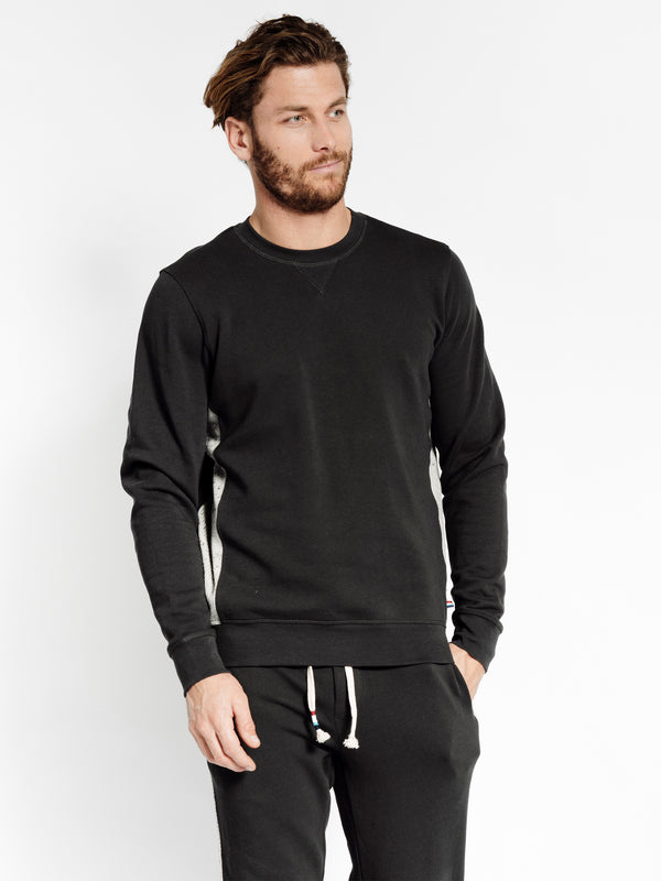 SPECKLED THERMAL SIDE PULLOVER