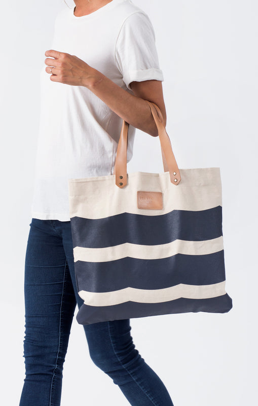 WAVES CANVAS TOTE