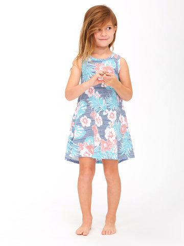 HIBISCUS FLOUNCE DRESS