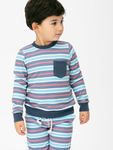 SOL STRIPE POCKET PULLOVER
