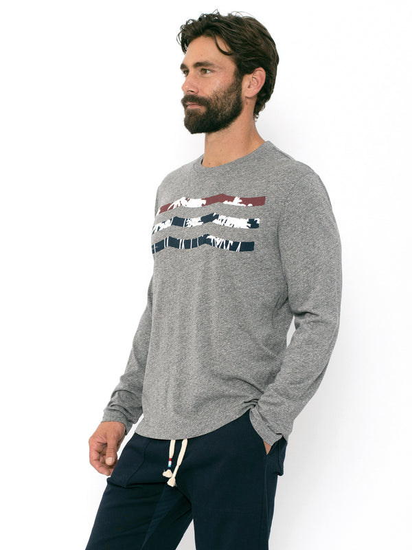 PATRIOT PALM WAVES LONG SLEEVE CREW