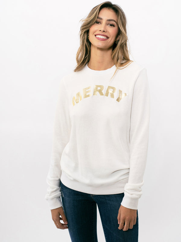 MERRY GOLD SHERPA PULLOVER