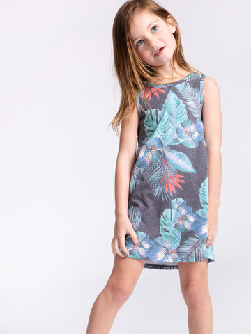 NIGHT BLOOMS FLOUNCE DRESS