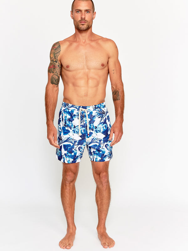 MIDNIGHT BLUES SWIM SHORT