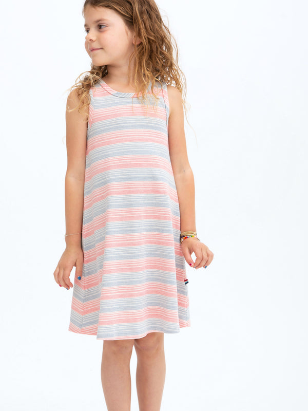 TWILL STRIPE TANK DRESS