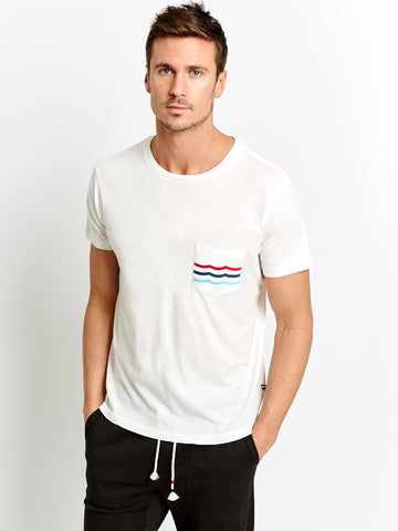 SOL FLAG WAVES POCKET TEE