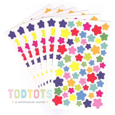 Colourful Shapes Stickers - 6 pieces