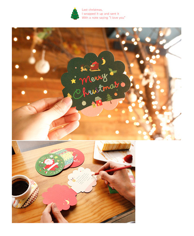 Happy Christmas Card Set - 10 pieces
