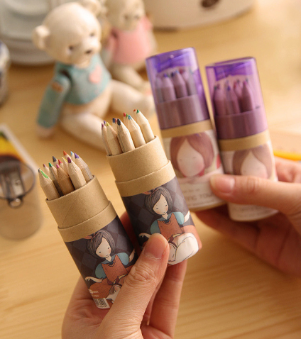 Floating Town Girl Colour Pencil Set