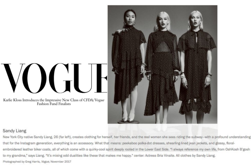 VOGUE - Karlie Kloss Introduces the Impressive New Class of CFDA/Vogue Fashion Fund Finalists