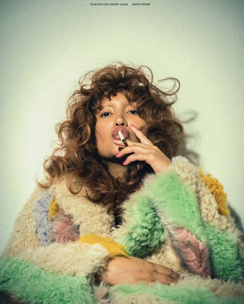 Alana O'Herlihy in the Patch Coat for Fat Magazine