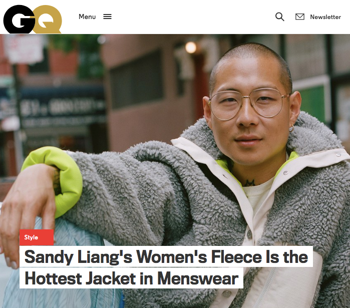 Sandy Liang's Women's Fleece Is the Hottest Jacket in Menswear