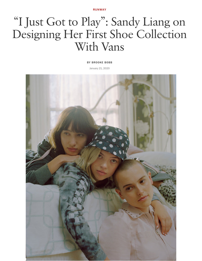 SANDY LIANG x VANS COLLABORATION | VOGUE