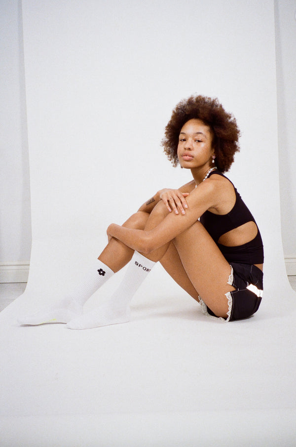 Sporty Socks in White