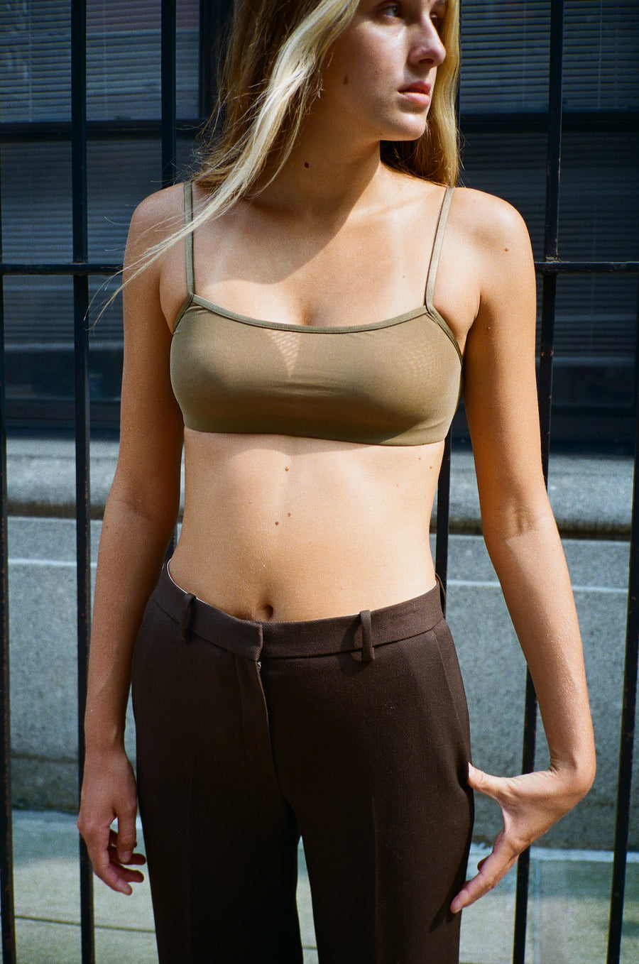 Training Bralette in Olive