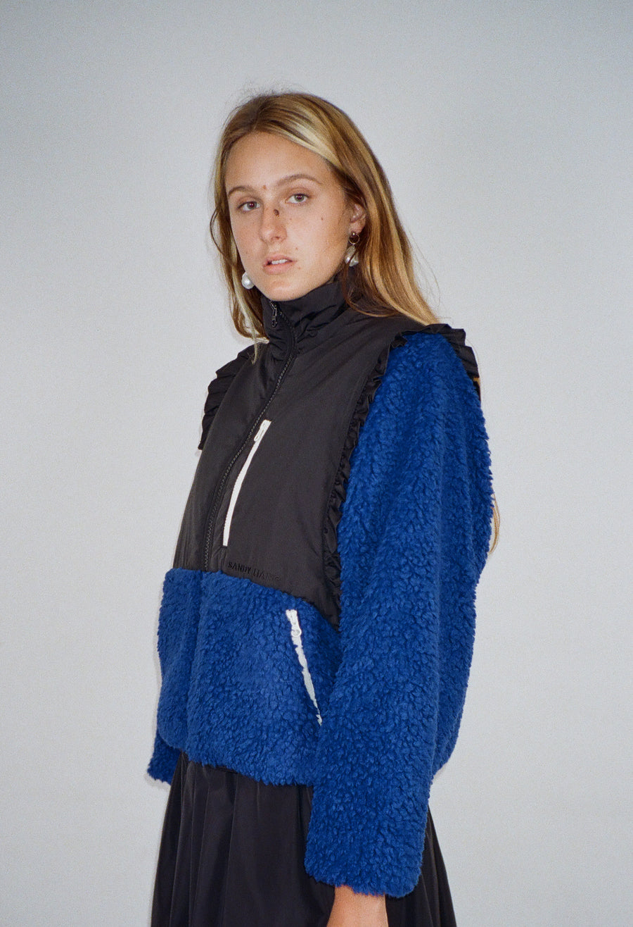 Mia Fleece in Cobalt