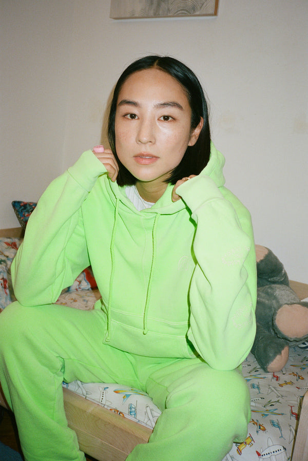 SL x Two Bridges Hoodie in Neon Green
