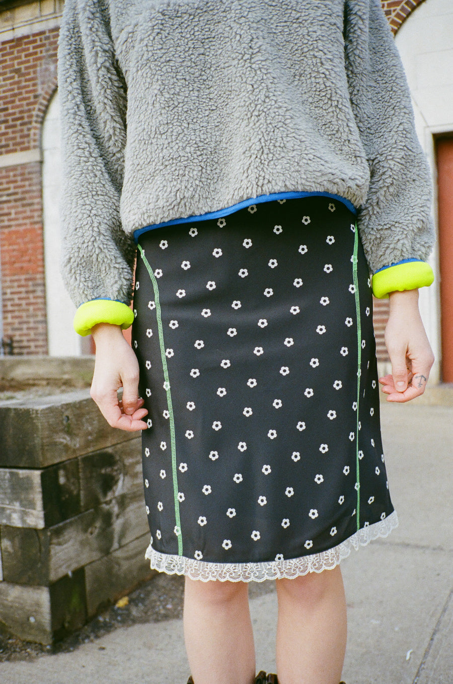 Slippy Skirt in Dalmation