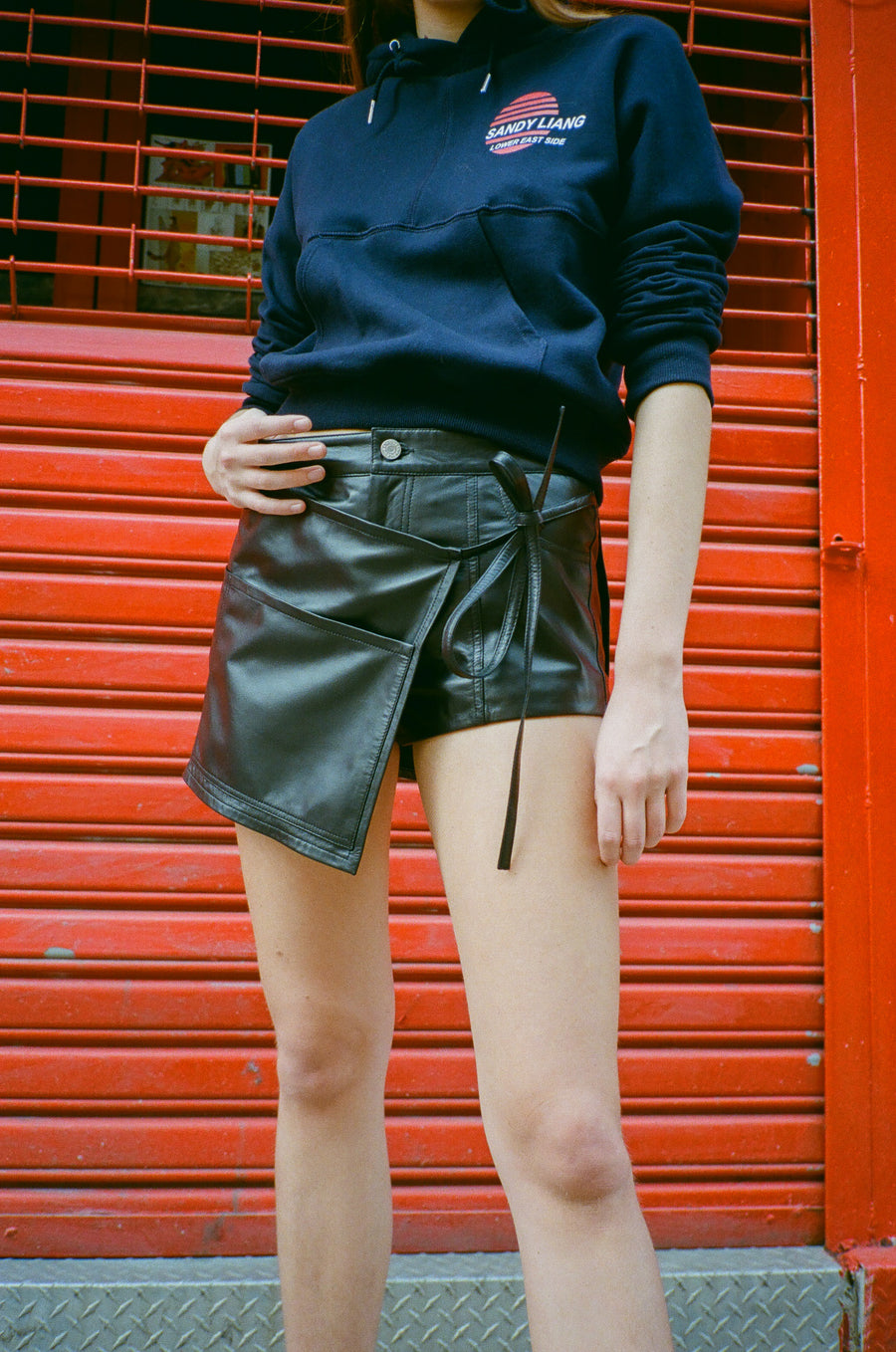 Leather Perry Skort