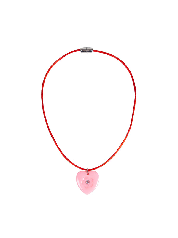 1991 Necklace with Red Satin