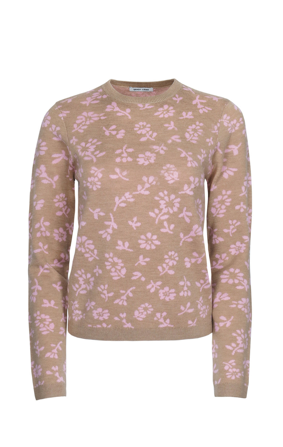 Floral Sweater in Pink/Brown