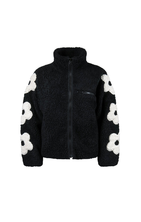 Grass Fleece in Black