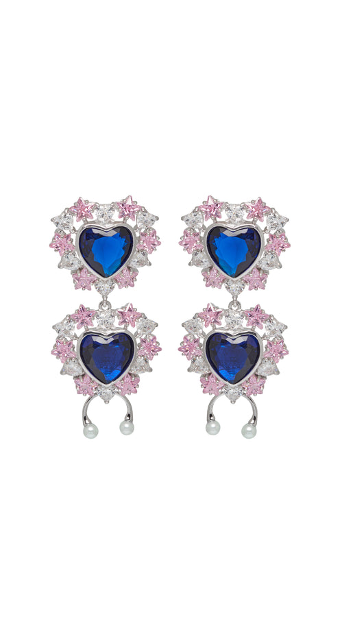 Studded Sapphire Earrings