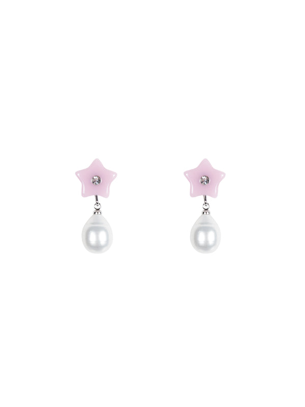 Cloverdale Earrings in Pink