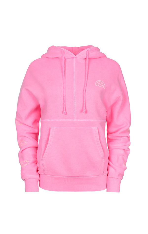 SL x Two Bridges Hoodie in Hot Pink