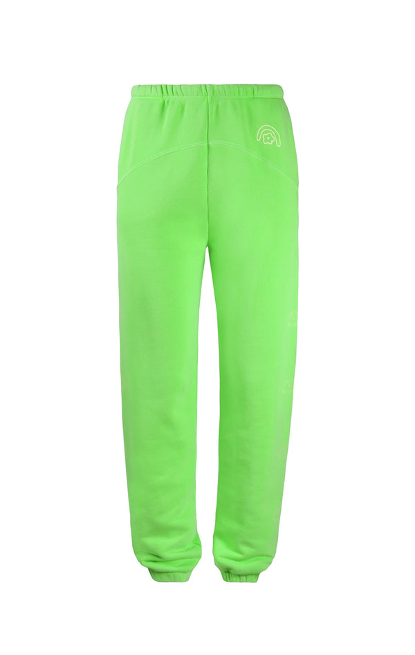 SL x Two Bridges Sweatpants in Neon Green
