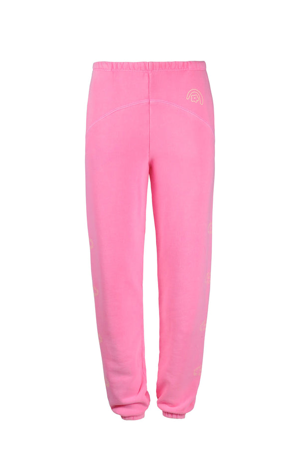 SL x Two Bridges Sweatpants in Hot Pink