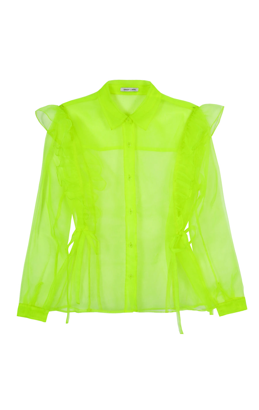 Grass Top in Highlighter Yellow