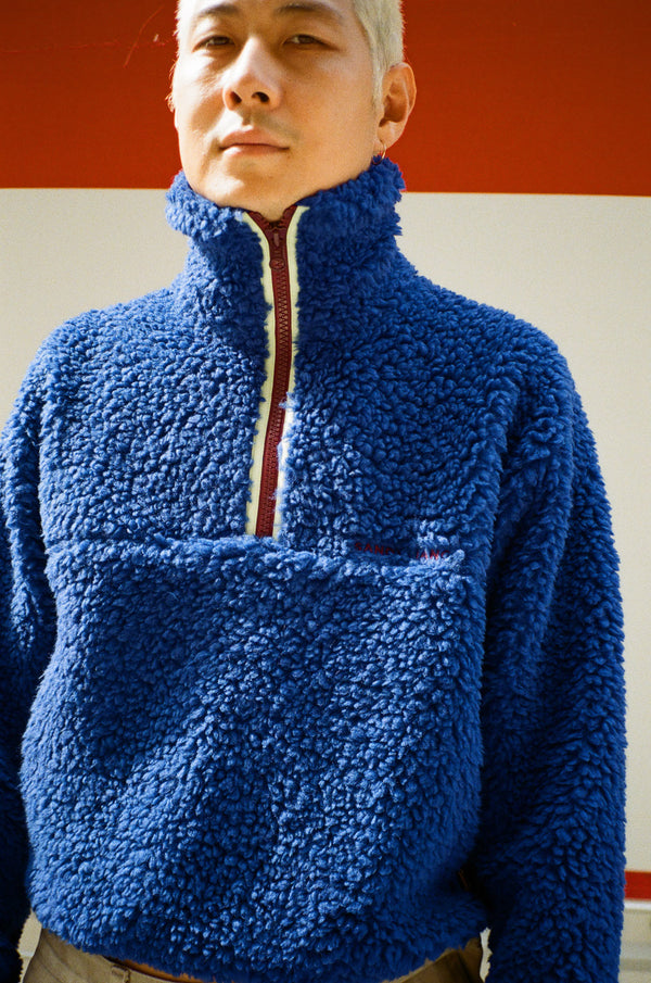 Bean Pullover in Cobalt