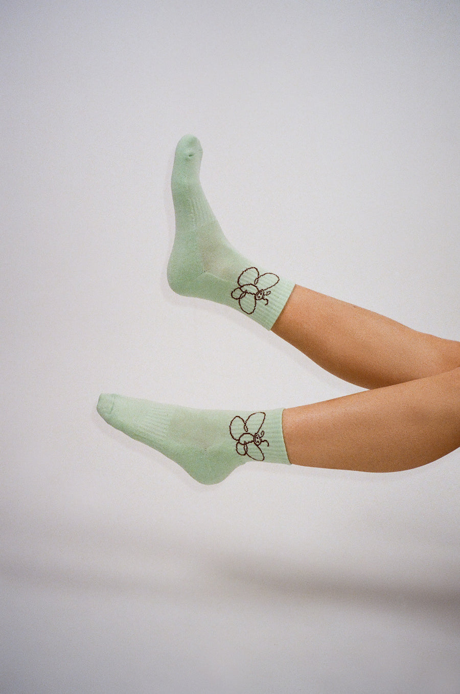 Wings Socks in Minty