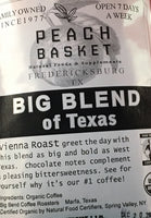 Big Bend Coffee Roasters Big Blend Of Texas Coffee Organic Whole Bean 1 lb