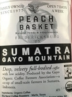 Big Bend Coffee Roasters Sumatra Coffee Organic Whole Bean 1 lb